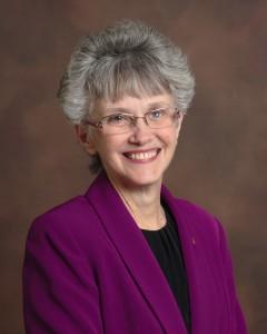 Bishop Peggy Johnson, 2016 photo, purple jacket