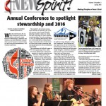 Front Page of the NEWSpirit, Spring 2015 Issue