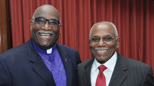Bishop Gregory Palmer with his father, the Rev. Herbert Palmer