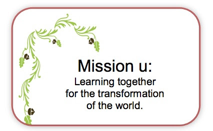 (logo) Mission u: Learning together for the transformation of the world