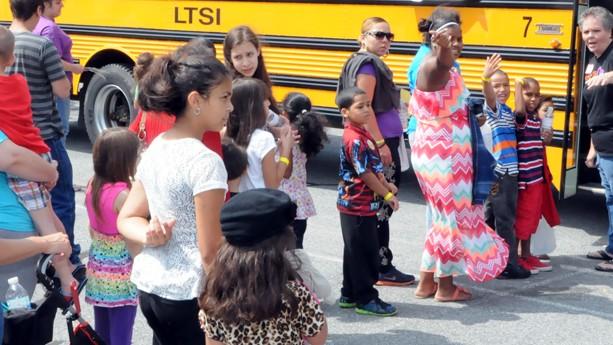 2014 Annual Back-to-School Backpacks giveaway at Wesley UMC, Bethlehem