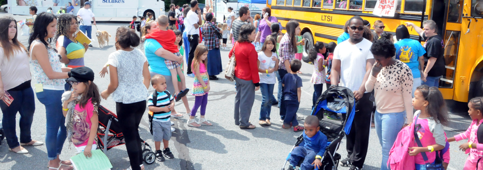 2014 Annual Back-to-School Backpacks giveaway at Wesley UMC, Bethlehem