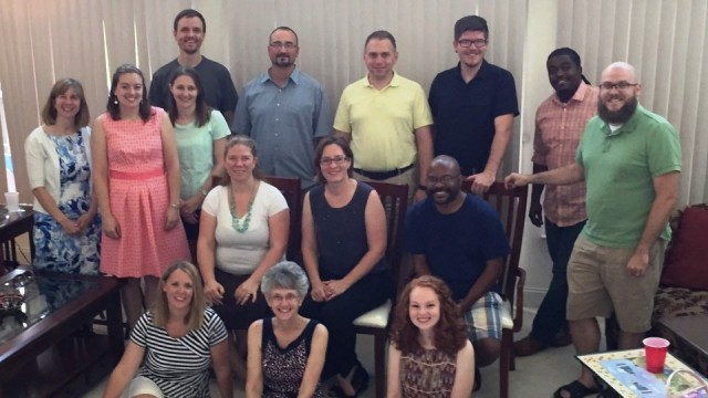 Group of Young Adult Clergy With Bishop Peggy Johnson