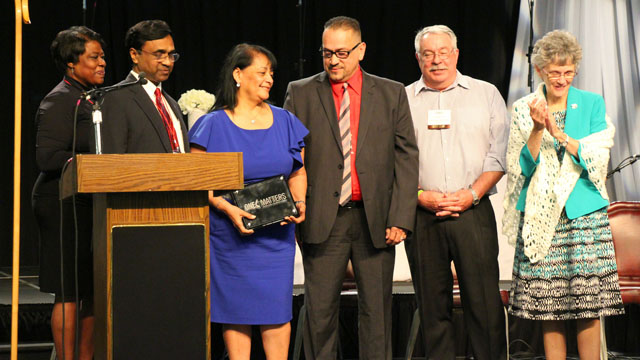 Nuevo Nacimiento (New Birth) UMC was awarded the UM Discipleship Ministries new One Matters Discipleship Award, presented to the Rev. Elena Ortiz, senior pastor, and her leadership team at Annual Conference in May 2015.