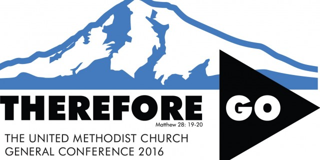 General Conference 2016 logo and theme: Therefore Go
