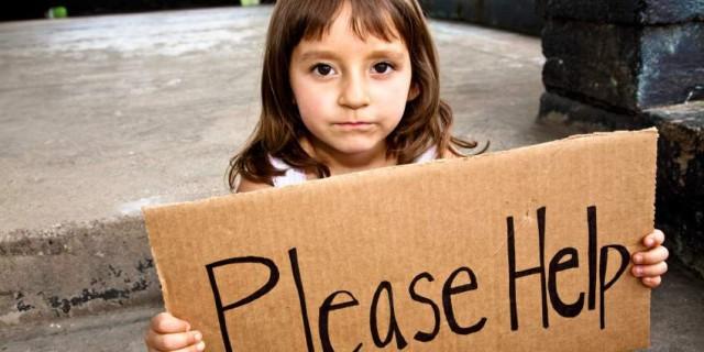 Girl,Poverty,PleaseHelpSign