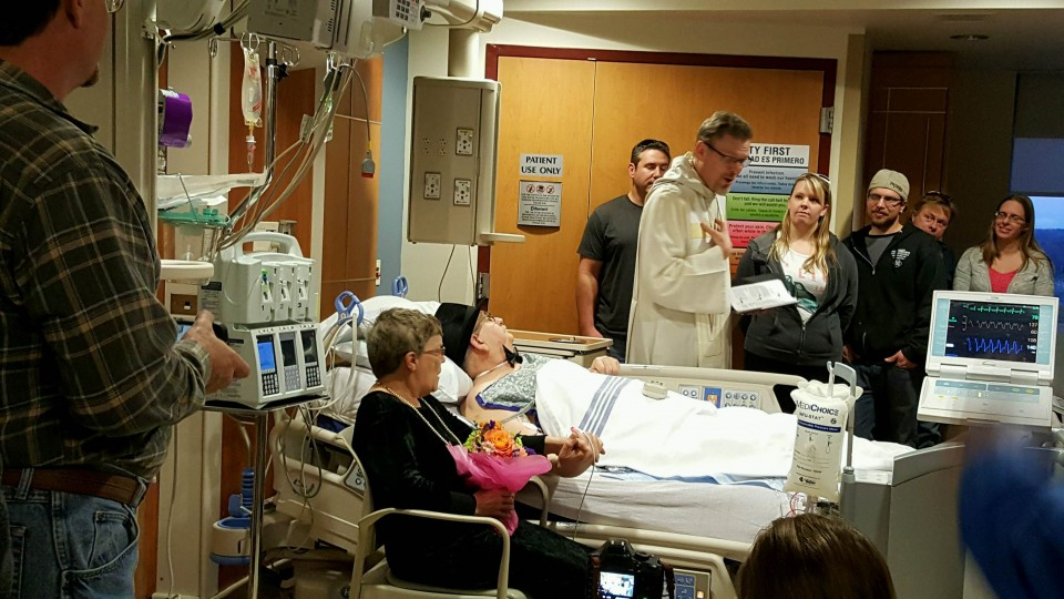 Pre-surgery hospital wedding requires all hearts on deck