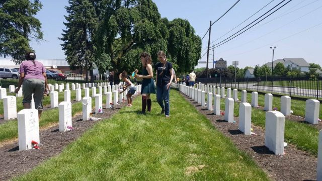 CONAM chair Carlisle's buried children on Memorial Day