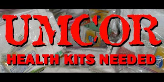 UMCOR health kits needed