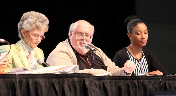 Bishop Peggy Johnson, Lloyd Speer, Tamara Wims