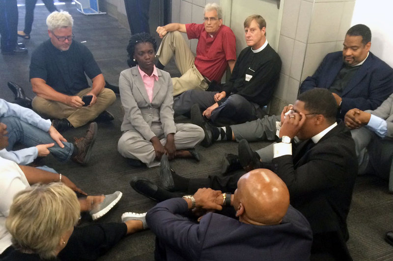 3 UM clergy arrested for sit-in protest over wages at PHL