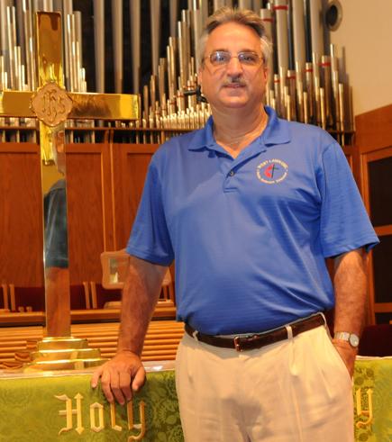 Photo by Tim Leedy 8/31/09Rev. Jeff Raffauf pastor at West Lawn United Methodist Church.