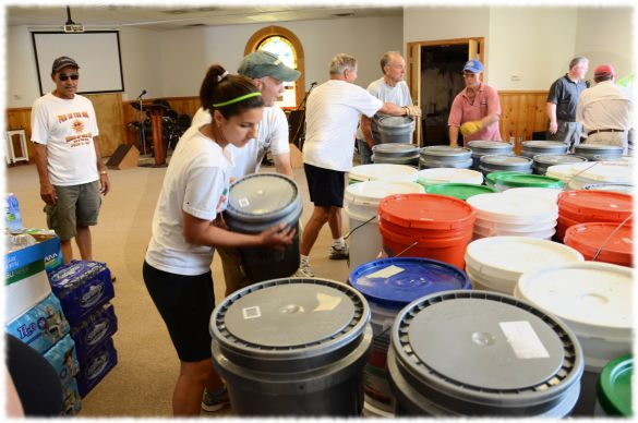 NC Relief - cleaning buckets