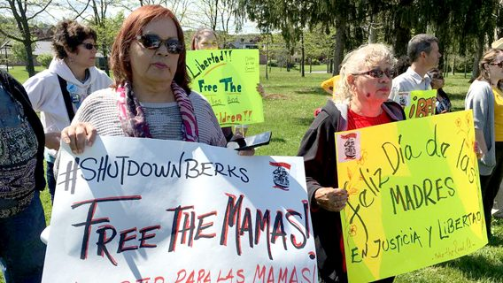 Long-detained immigrant families in PA arouse concern, protests