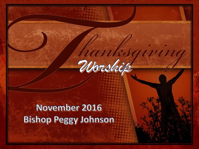 Thanksgiving Staff worship - first