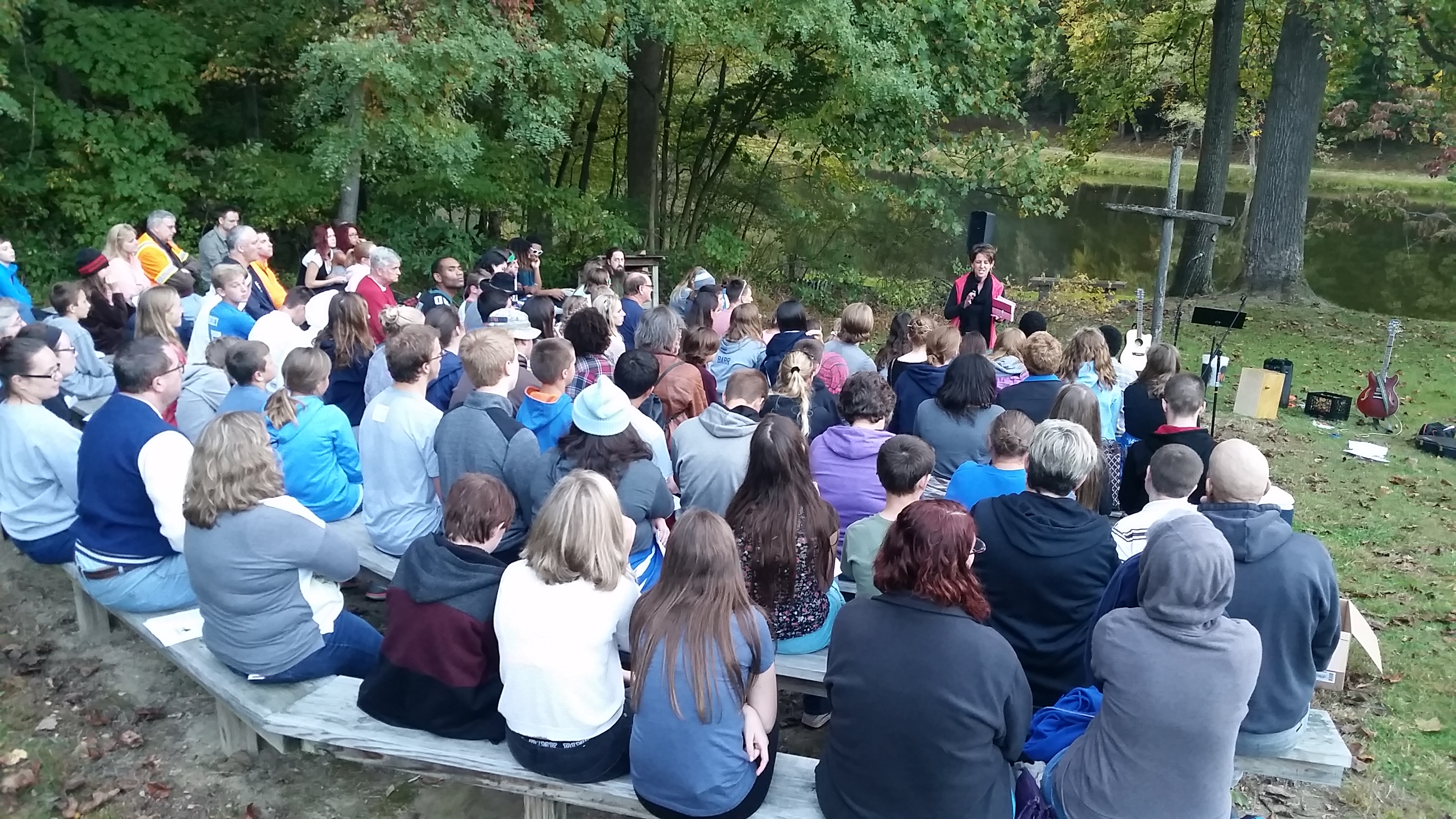October 2016 Youth Night at Gretna Glen, where church youth groups can come enjoy free fun, fellowship and faith lessons on Sunday evenings.