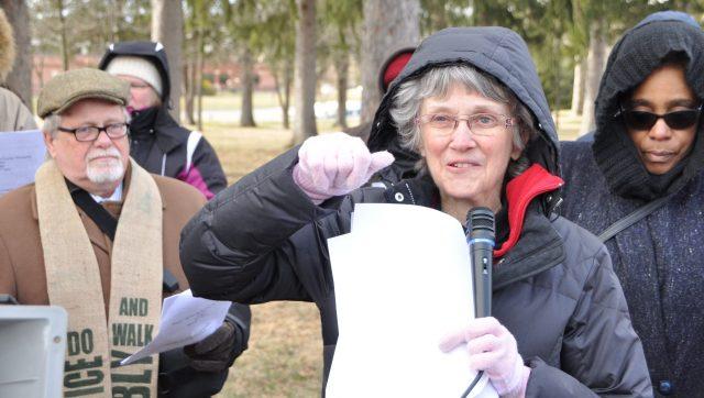 Bishop, UMs lead prayer vigil for detained 'Berks Madres'